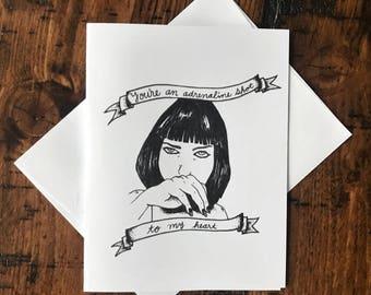 Pulp Fiction's Mia Wallace Card