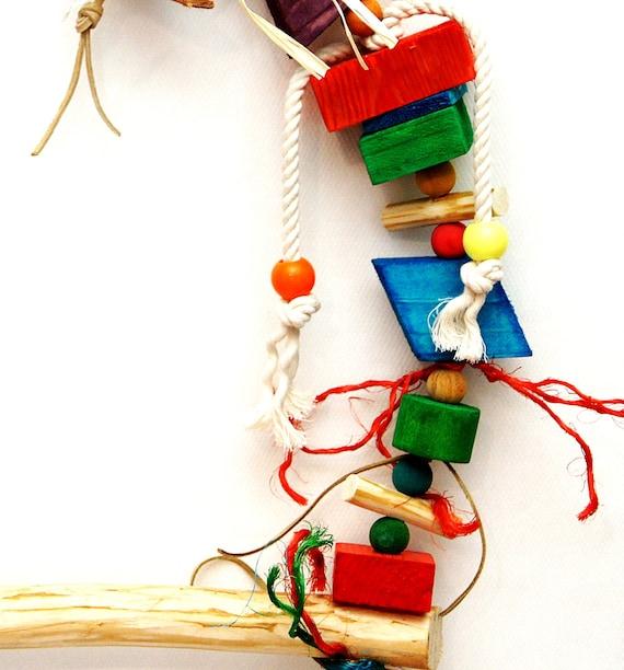 Tutti Frutti Wooden Shreddable Bird Parrot Cage Toy Medium Size Amazon Conure
