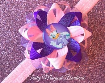 Daisy Duck Headband | Daisy Duck Baby Headband | Daisy Duck Hair Bow | Daisy Duck Bow | Daisy Duck Hair Clip | Disney Daisy Duck Headband