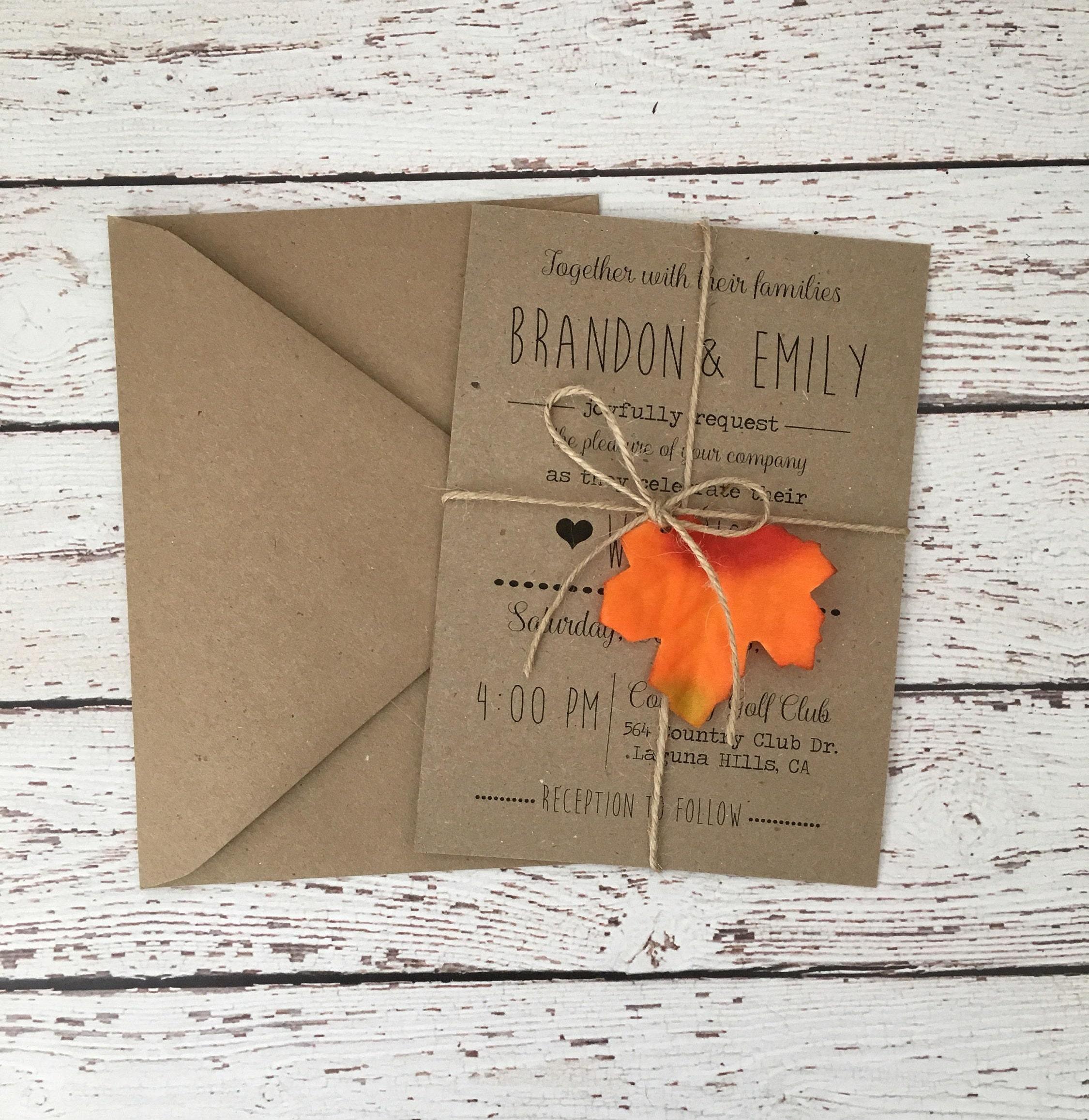 50: Simple Fall Wedding Invitations At Reisefeber.org