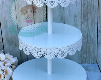 FAST Shipping!! 3 Tier Eyelet Treat Stand, Eyelet Cupcake Stand, Treat Display