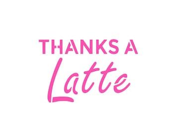 Thanks Latte Cookie Etsy
