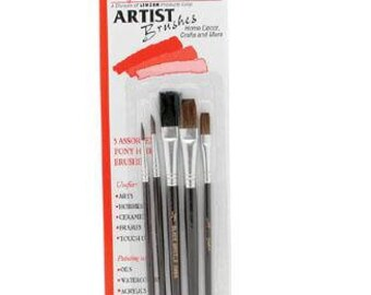 FAST SHIPPING!!! Artist Brushes, Cake Decorating Brushes, Set of 5 Assorted Brushes, Cake Brushes, Cookies, Edible Paint, Edible Art Paint