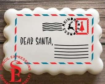 cakes and crafting Dear Santa Letter Stencil for cookies