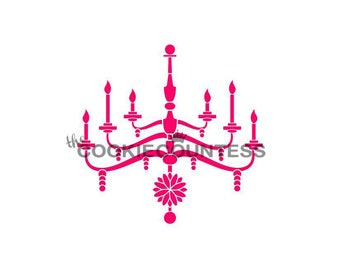 Chandelier stencil etsy chandelier stencil chandelier cookie stencil cookie decorating chandelier cake stencil chandelier cake stencil aloadofball Image collections