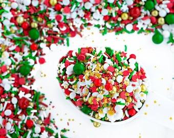 jolly holiday sweetapolita 4oz sprinkles jimmies sprinkles christmas mix sprinkles cookie sprinkles cake sprinkles - Decorating Cookies With Sprinkles For Christmas