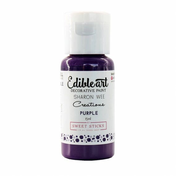 FAST SHIPPING!! Purple Edible Art Paint, Edible Food Color, Purple Food Color, Edible Water Color
