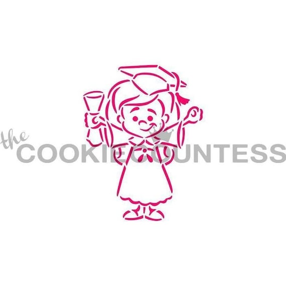 PYO Fast Shipping!!!! PYO Graduation Caps Cookie Stencil PYO Stencil Paint Your Cookie.