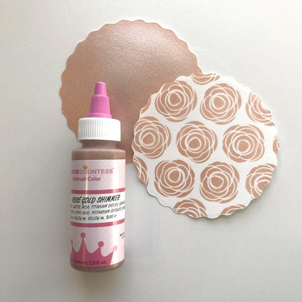 FATS SHIPPING Rose Gold Shimmer Airbrush Color Rose Gold   Etsy