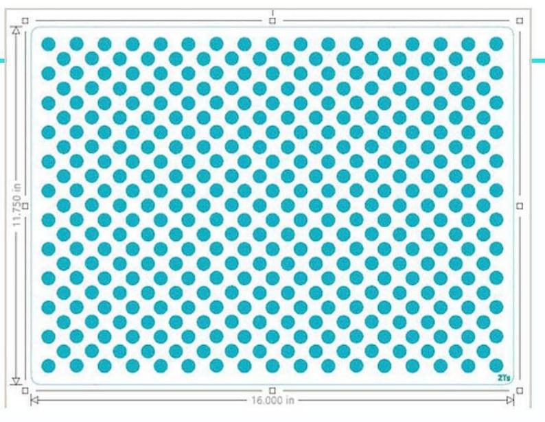 Large Polka Dots Large Polka Dots Stencil FAST SHIPPING!! Pan Size stencil Half Sheet Stencil Large Polka Dots Pan Size Stencil