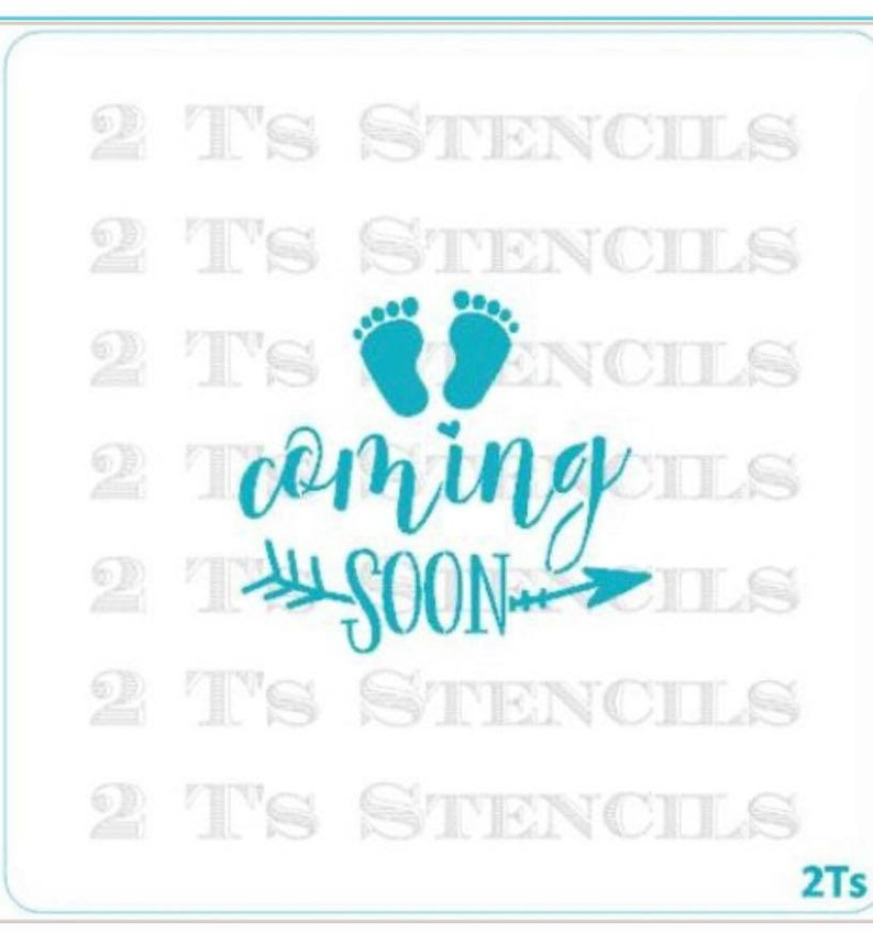 Baby Shower Cookie Stencil Coming Soon Stencil Coming Soon Cookie Stencil Baby Cookie Stencil FAST SHIPPING!!