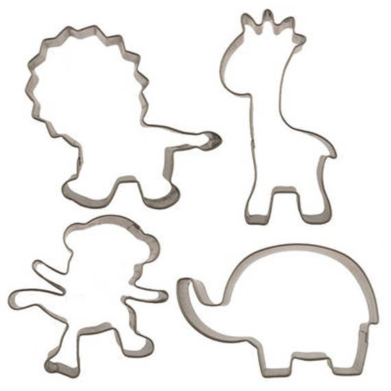 the cheapest purchase cheap wide range FAST SHIPPING!! Jungle Animals Cookie Cutter Set, Jungle Fondant Cutter  Set, Jungle Animals Cupcake Topper, Jungle Cutters, Animals Cutters