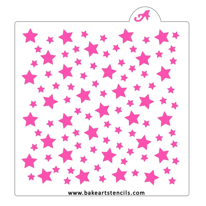 Cookie Stencil Stars Cookie Stencil FAST SHIPPING!! Cake Stencil. Background Stencil Space Stars Pattern Stencil