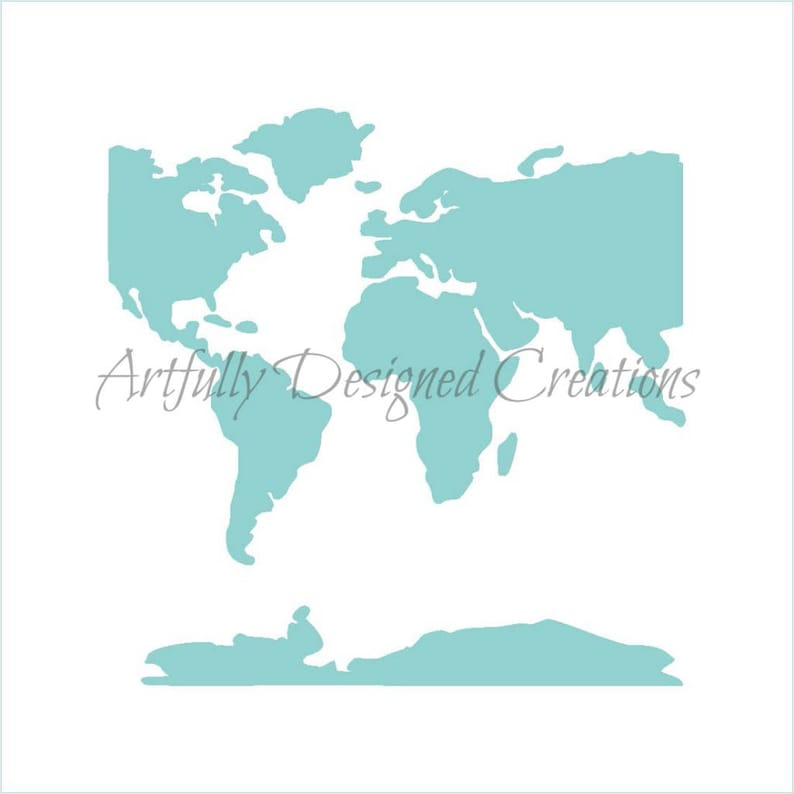 FAST SHIPPING World Map Stencil Map Background Stencil   Etsy