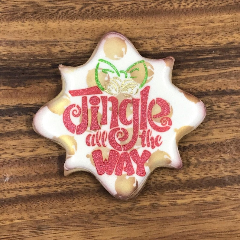 Jingle All the Way Stencil Cake Decorating Cookie Decorating Cake Stencil Cookie Stencil Fast Shipping!! Winter Christmas Stencil