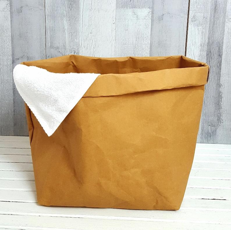 2cb692f72a733 NATURAL PAPER HAMPER Small Laundry Bag Storage Organizer Kids | Etsy