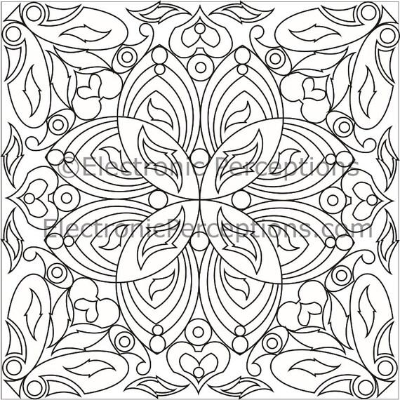 Mandala inspirado floral adulto colorear página página   Etsy