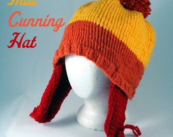 Firefly Jayne hat,Jayne Cobb cosplay, Whedonverse hat, Fandom hats, handknit trapper hat, red, orange and yellow Whedonverse fandom hat!
