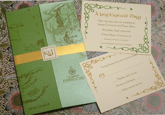 Herr Der Ringe Mittelerde Karte Hobbit Elven Grun Hochzeit Etsy