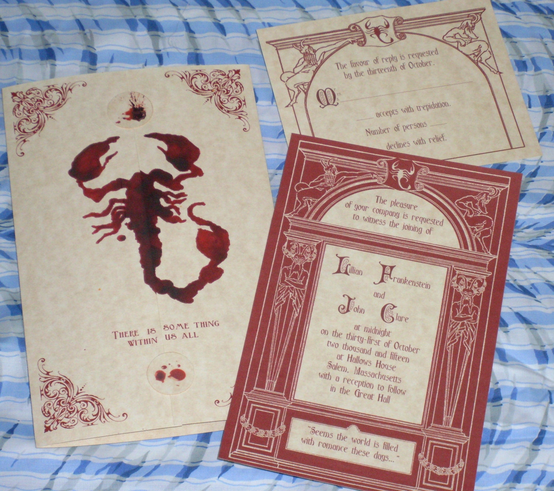 Penny Dreadful Invitation Halloween Scorpion Gothic Red | Etsy