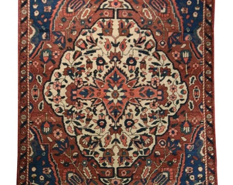 5x8 Persian Bakhtiari Rug - Home Decor, Persian Rug, 5x8 Area Rug, Bakhtiari Rug