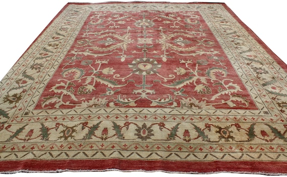 11x139 Pakistani Traditional Wool Hand Knotted Vintage Area Etsy