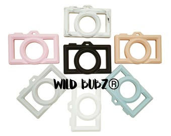 WILD BUBZ® Silicone CAMERA Teether Toy - Exclusive to Teething Baby World - Independently lab tested