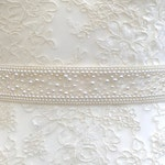 Pearl and crystal belt or sash - hand made in UK - ALICE