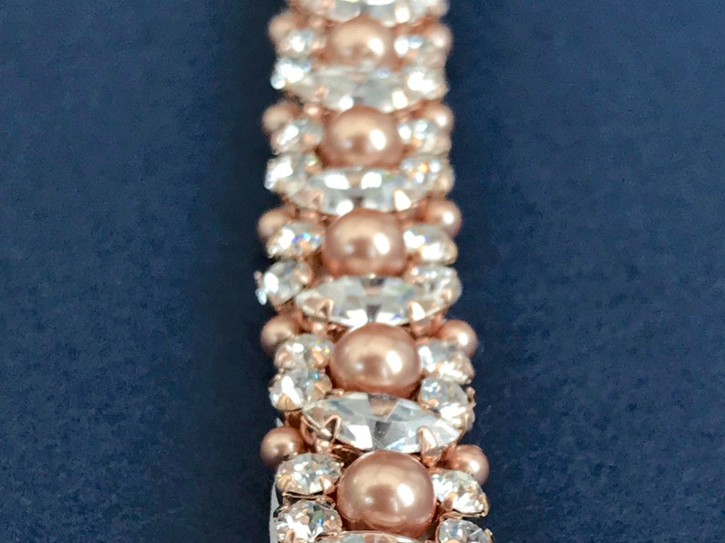 Swarovski Rose Gold Belt Or Sash  Made To Measure  GABRIELLA image 0