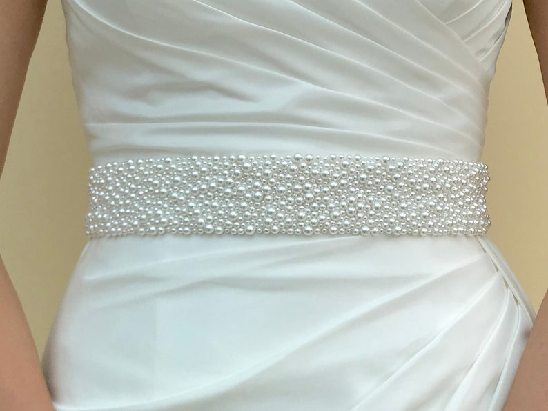 Hand Made Pearl Belt   hand made in UK  LUCY. image 0