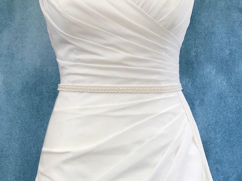 Pearl Bridal Belt  YASMIN image 0