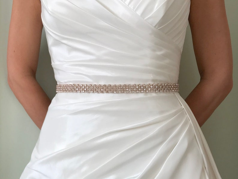 Rose Gold Belt Or Sash  Made To Measure  GIGI image 0