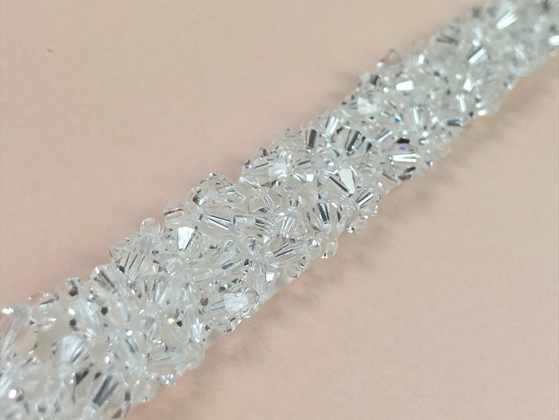 Clear Crystal Belt Or Sash  Made To Measure  NEVE image 0