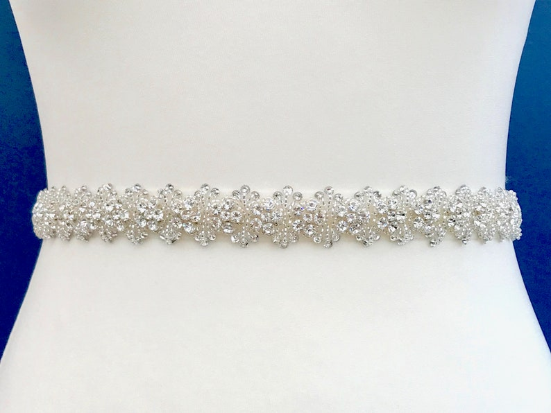 Diamanté Bridal Belt  Made To Measure  STEPHANIE image 0