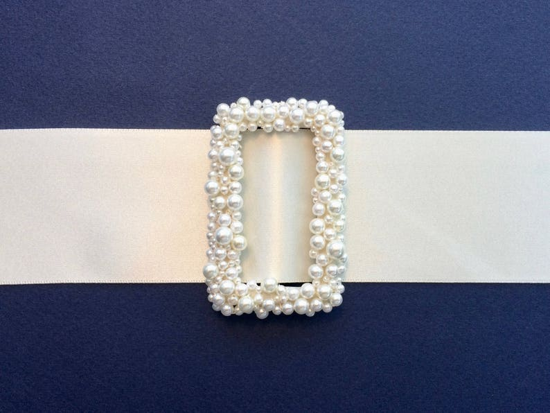 Bridal Buckle Pearl Buckle Wedding Dress Buckle Sash And image 0