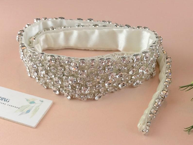 Diamanté Encrusted Bridal Belt Or Sash  Made To Measure  image 0