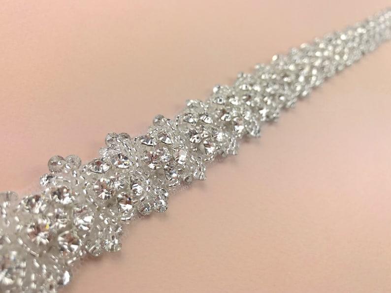 Diamanté Bridal Belt Clasped Bridal Belt Bridal Belt Silver image 0