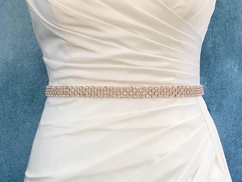 Rose Gold Belt Or Sash  Made To Measure  GIGI image 0