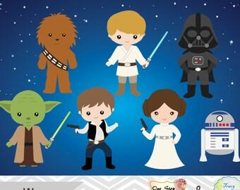 image regarding Printable Star Wars Characters named Star wars printable Etsy