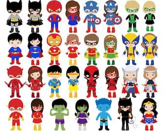 superhero clipart etsy rh etsy com superhero clipart free images superhero clipart free images