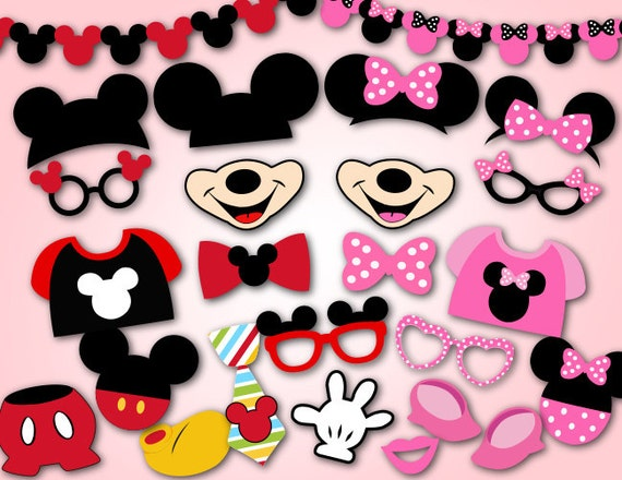 Unforgettable image pertaining to free printable mickey mouse photo booth props