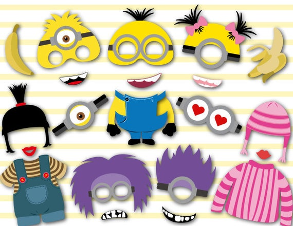 graphic about Minion Logo Printable known as Electronic Minions Photograph Booth Props, Printable Minions Social gathering PhotoBooth Props, Quick Obtain Minions Birthday Bash Photobooth Props 0156