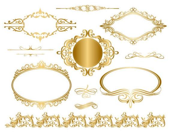 Vintage frame border Vintage Sign Instant Download Golden Frame Border Clipart Gold Digital Flourish Swirl Frame Clip Art Golden Vintage Frame Scrapbook Embellishment 0044 Etsy Instant Download Golden Frame Border Clipart Gold Digital Etsy