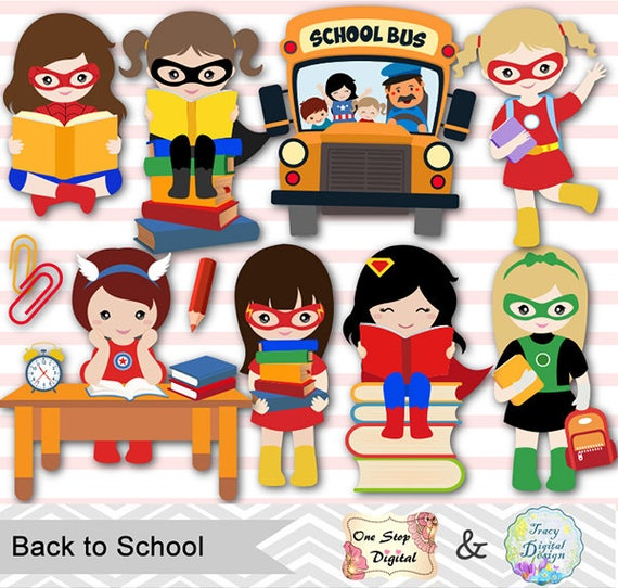 Supereroe Digital Clipart Clipart di giorno di scuola  21d0314ee260