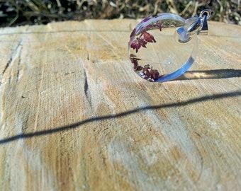 Dandelion fluff pendant-dream fluff- resin jewelry- fluff jewelry- natural meadow jewelry- dream fluff pendant- handmade gifts- fluff gifts