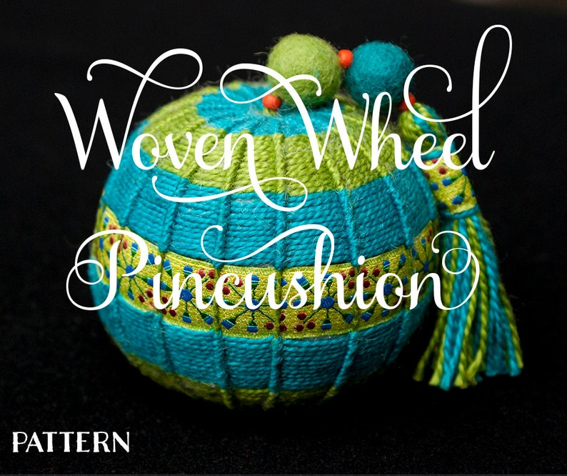 Ewes-ful Things Collection: Woven Wheel Pincushion image 0