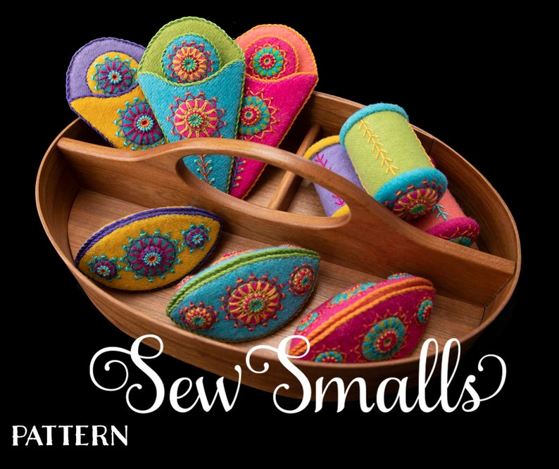 Sew Smalls: Ewe-niversity Wool Appliqued and Embroidered image 0