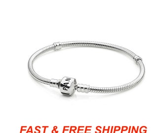 513b145197c Authentic Pandora Sterling Silver Barrel Clasp Bracelet (Retail Price 65  dollars)