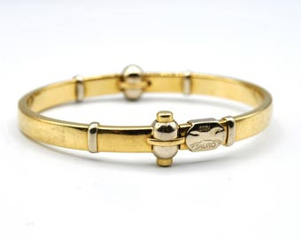 18k Two Tone Gold Sauro Bangle #263629879489