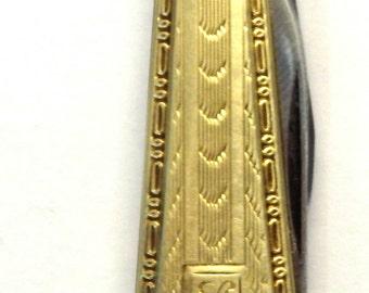 14k Yellow Gold Antique Pocket Knife # 261907120108